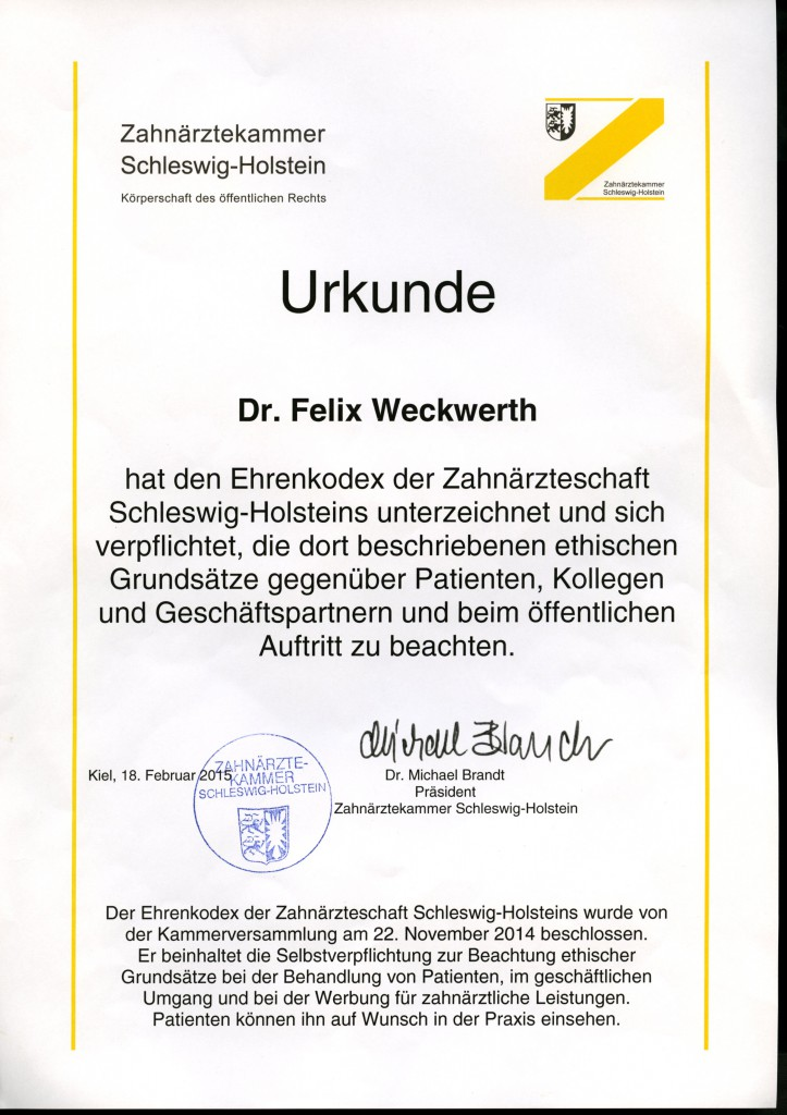 Urkunde Dr.F.W